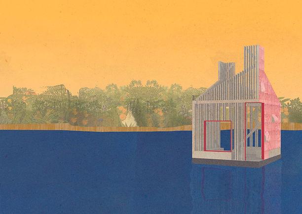 Render floating lakehouse design architecture waking life image pavillion structure