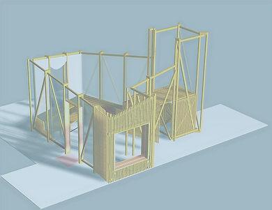 3D lakehouse model waking life festival