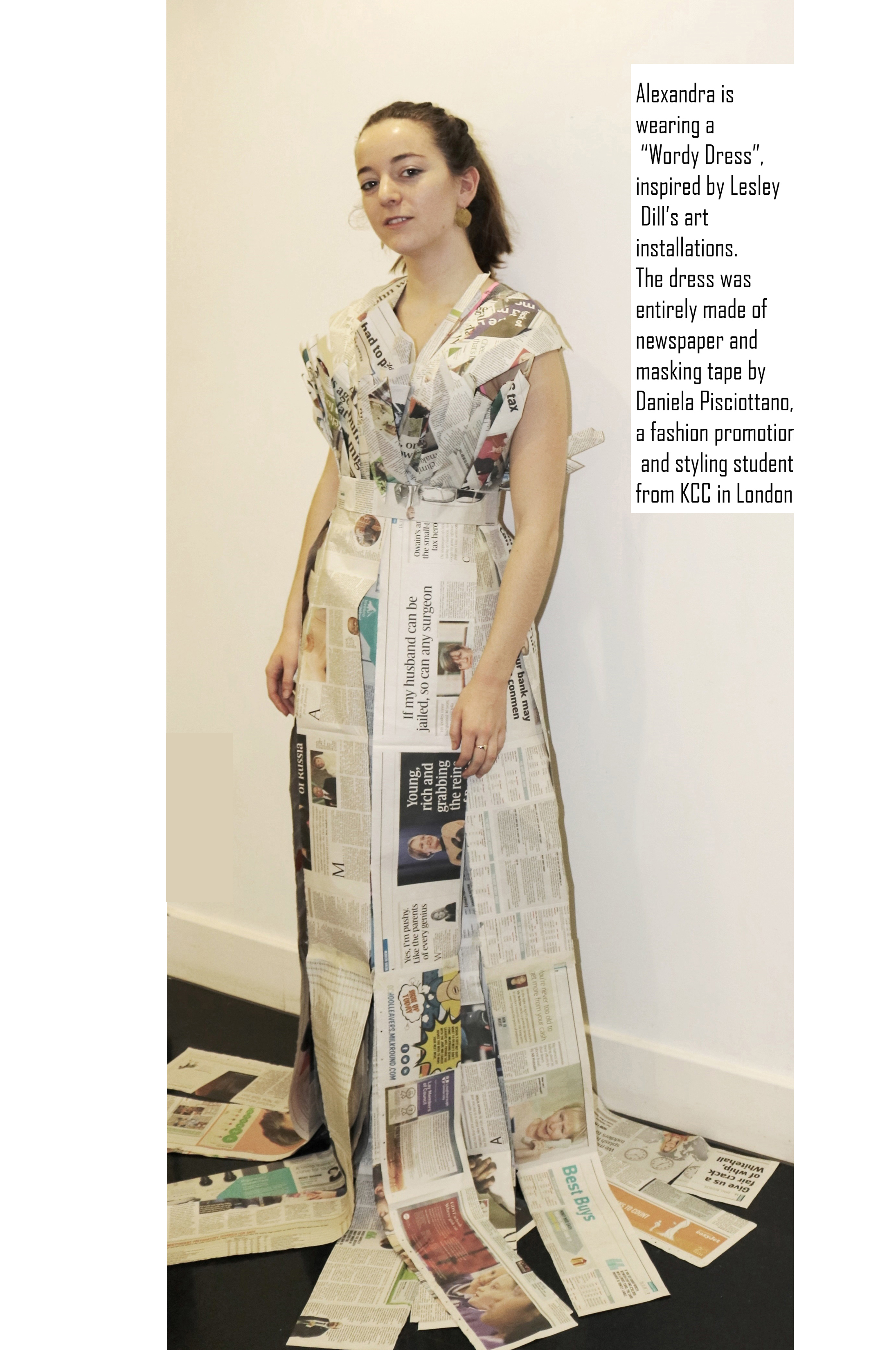 Fashion design: Paper dress