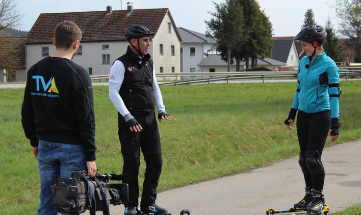 Rollskisport bei TVA - dem Regionalsender.