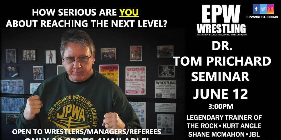Dr. Tom Prichard Seminar - For Wrestlers/Referees