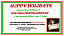 Dance Gift Certificate