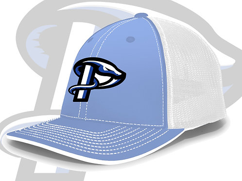 Columbia Blue/White Pacific Trucker Flexfit Cap