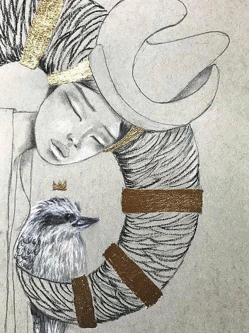 My King and I Embellished Giclée Print