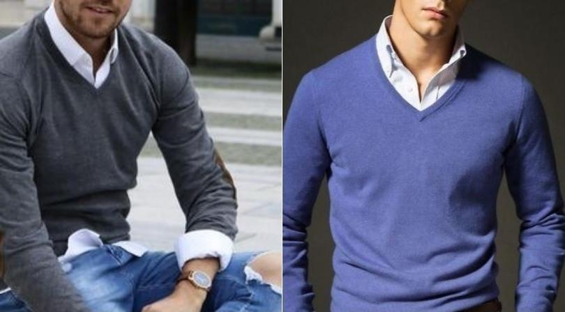 suéter e camisa