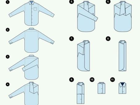 Como dobrar uma camisa?
