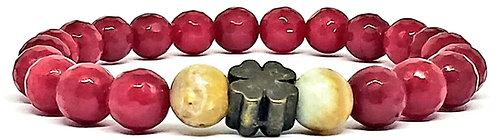 PUL 9 | ruby indiano + jaspe madeira + trevo