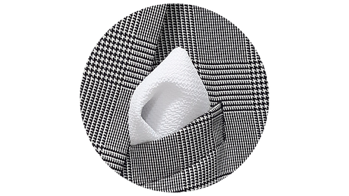 LENÇO 3 | crepe branco