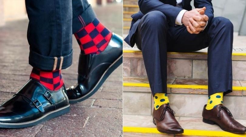 Meias coloridas para estilos mais casual e formal