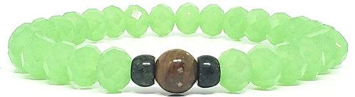 PUL 25 | cristal verde + jaspe cobra