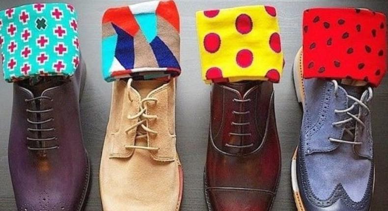 Meias coloridas e estampadas