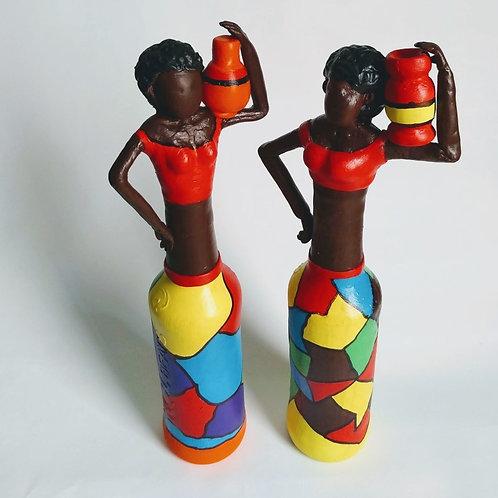 Estatueta Decorativa Africana