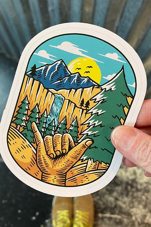 Hang loose vinyl sticker