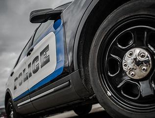 Modern American State Police Cruiser. Sp