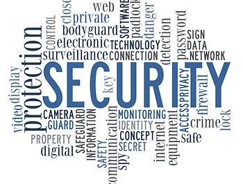 security info-text graphics and arrangem