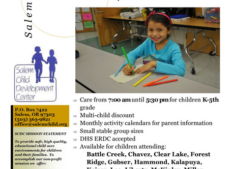 Full Day Childcare with Distance Learning Support Is Available for Salem-Keizer