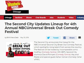 The Second City Lineup for 4th Annual NBCUniversal Break Out Comedy Fest