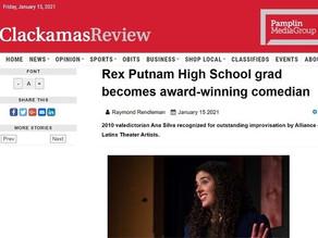Rex Putnam High School grad becomes award-winning comedian