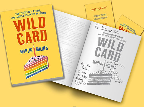 WILD CARD - Signed & Personalised copy with bookmark
