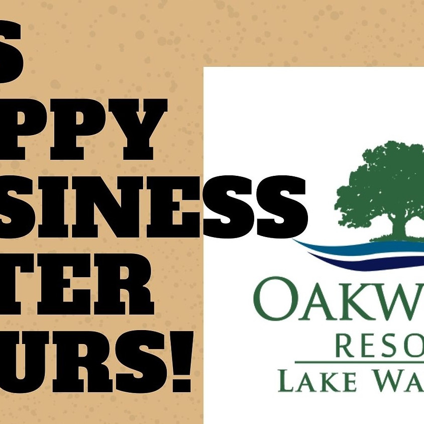 Happy Business After Hours at Oakwood Resort on the patio