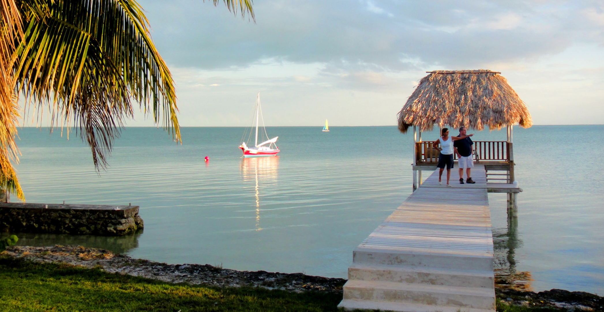 Relaxing on the pier - Consejo Shores, Corozal, Belize