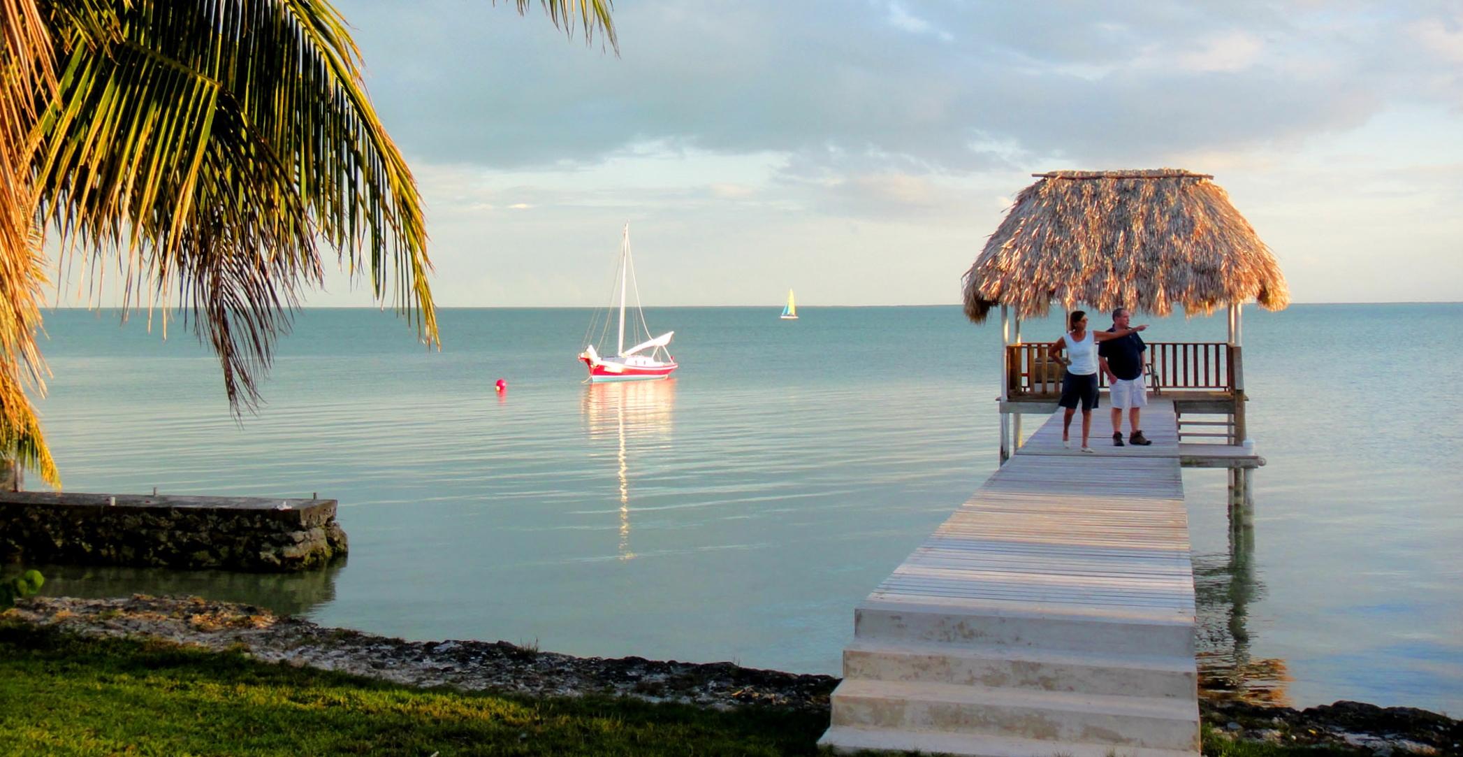 Relaxing on the pier - Consejo Shores, Corozal, Belize
