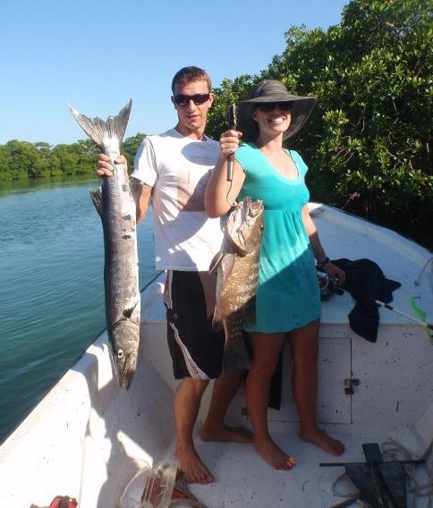 Fishing in Consejo Shores, Corozal, Belize