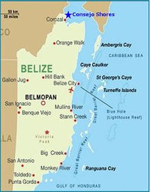 Consejo Shores, Corozal, Belize, Map of Belize