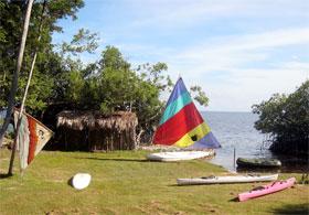 Sailing in Consejo Shores, Corozal, Belize
