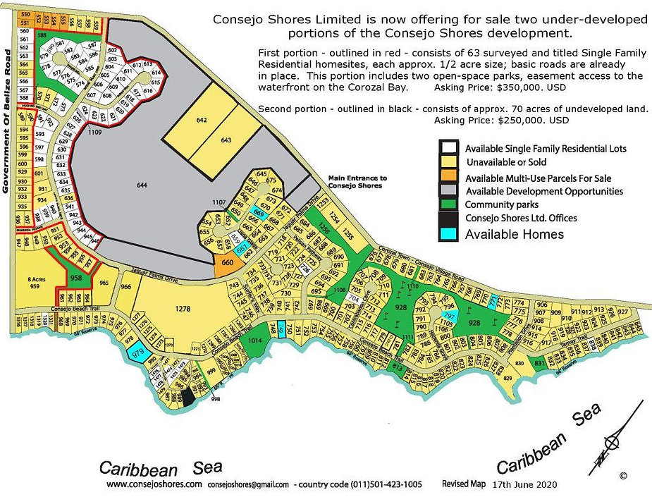 Under-developed portion of Consejo Shore