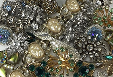 Close up Mom's costume jewelry