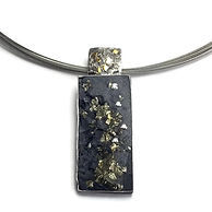 Pyrite sterling necklace