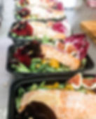 Some gorgeous and tasty salads togo for