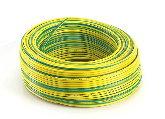 CABLE VERDE/AMARILLO 6 MM ROLLOX100MTS