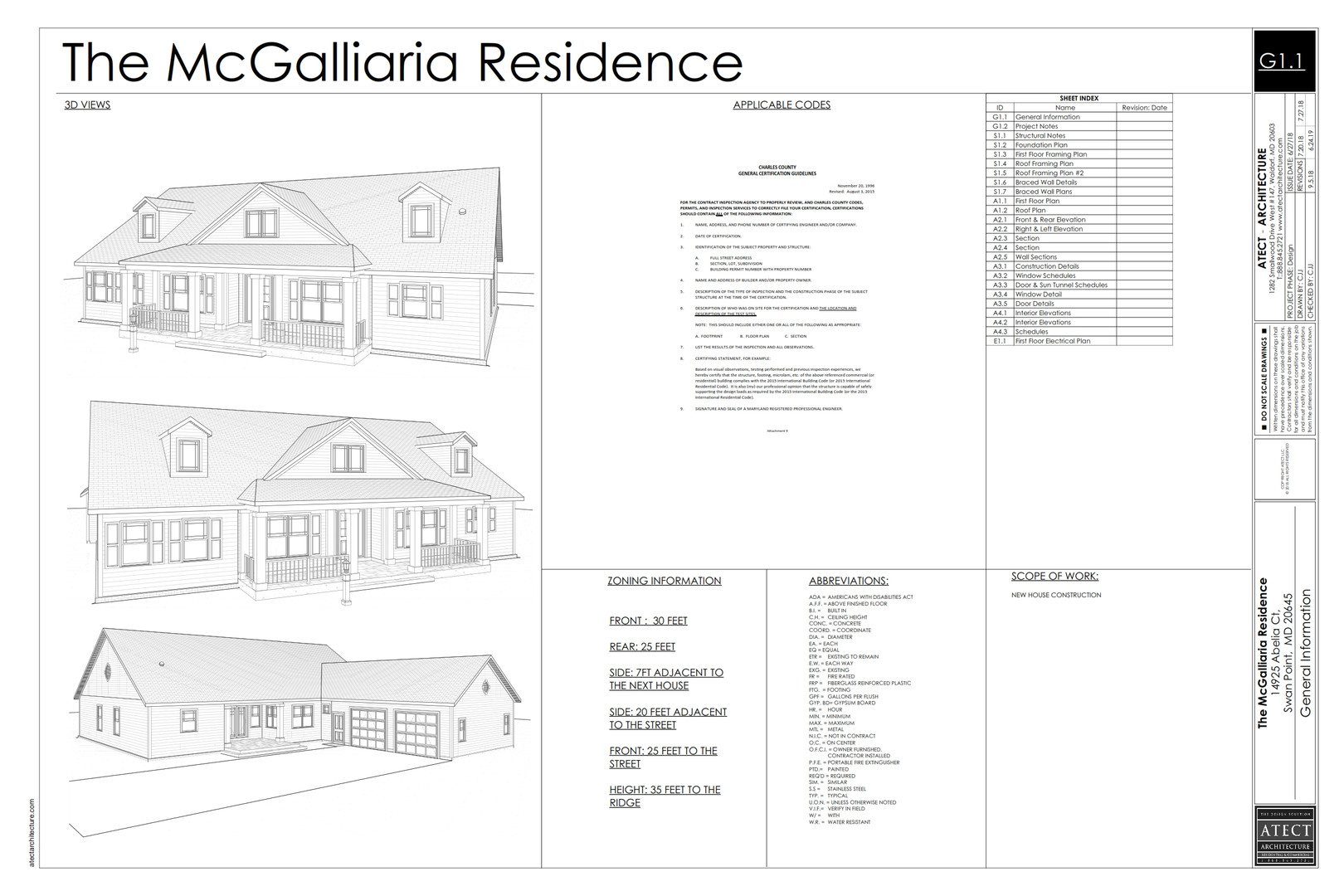 The McGalliaria Residence- Construction