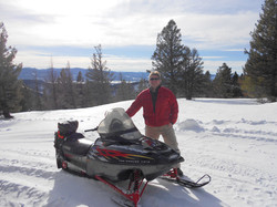 Snowmobiling the Mountains in Monarc