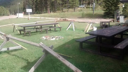 Cougar picnic and fire pit area