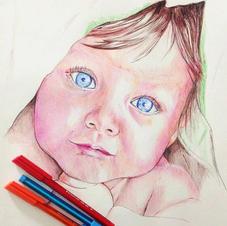 Babies in ballpoint pen