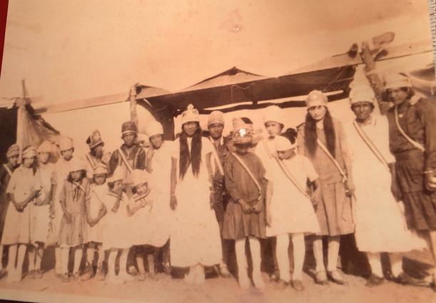 my maternal grand aunts in group photo- Cruz Azul 16 de Septiembre celebration in Texas