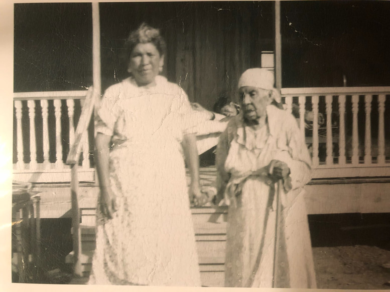 my great-grandmother Tiburcia Sarabia on the right with her daughter