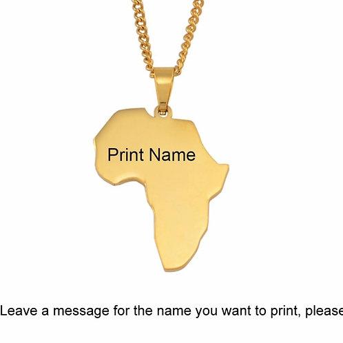 Custom Motherland necklace