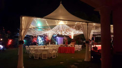 Clear Marquee with String Lights