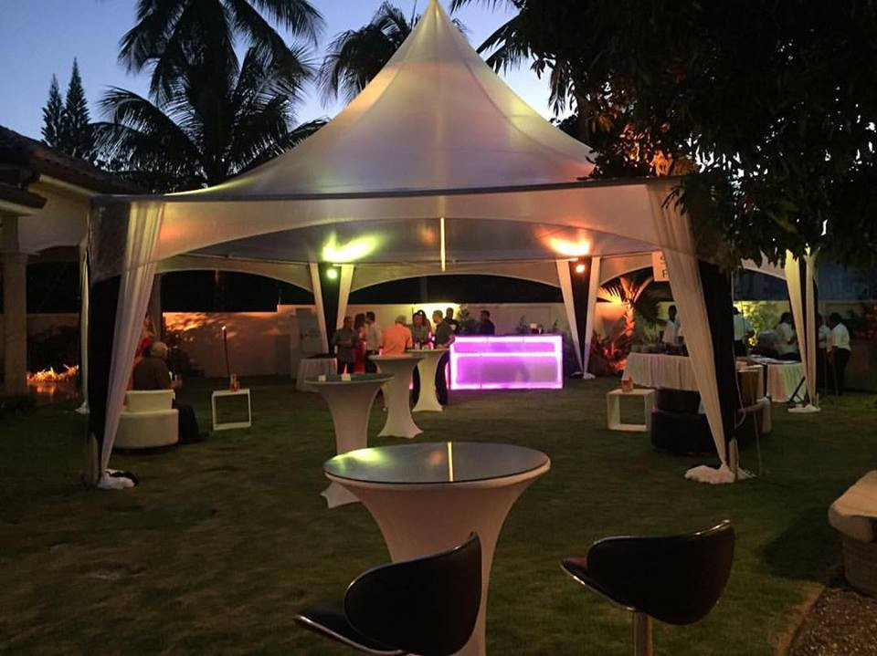 Clear  20 x 20 Marquee Tent for Birthday Party