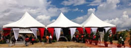 10 x 10 Basic Marquee Tents for Golconda Highway Re-Opening
