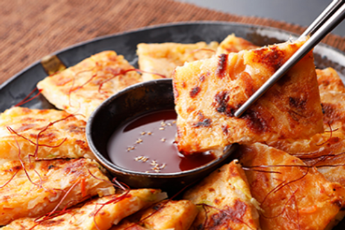 Kimchi Cheese Jeon ( Korean Pancake )