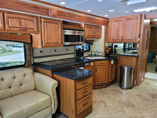 Huge Kitchen with Solid Surface Countertop