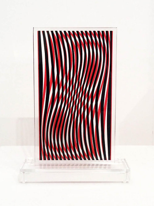 Interference Red & Black - Unique Piece
