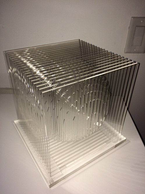 Spheres Cube Sculpture - Limited Edition I/III
