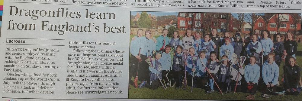 Clipping from Surrey Mirror 30 Nov 17