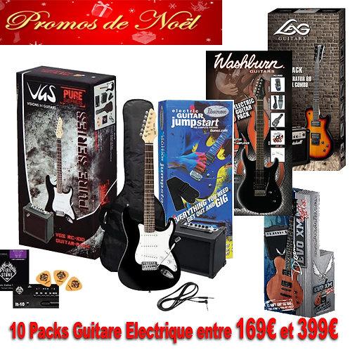 10 modèles de Pack Guitare Electrique, A partir de